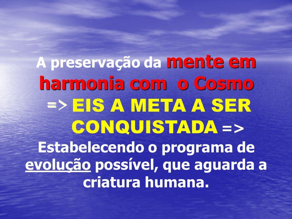 A preservação da mente em harmonia com o Cosmo