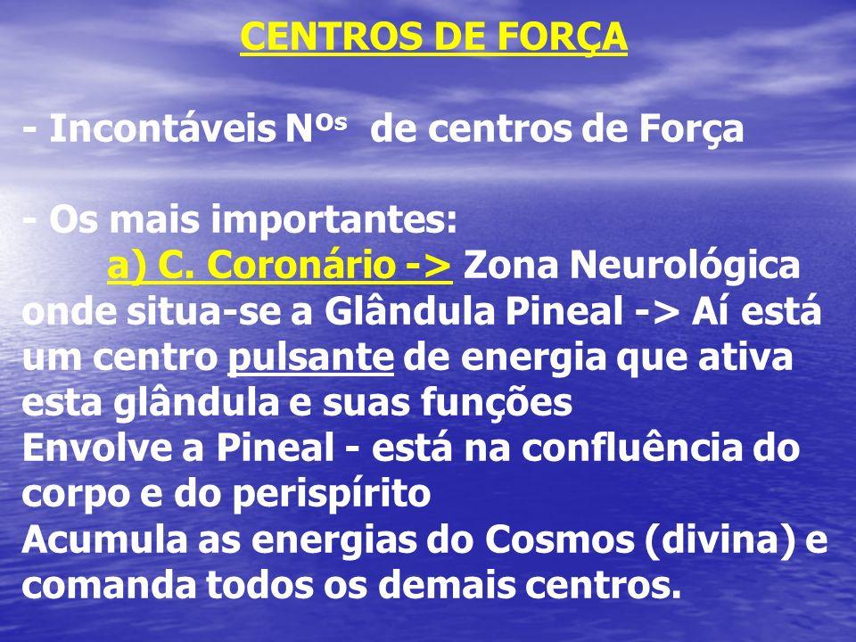 CENTROS DE FORÇA - Incontáveis Nºs de centros de Força. - Os mais importantes: