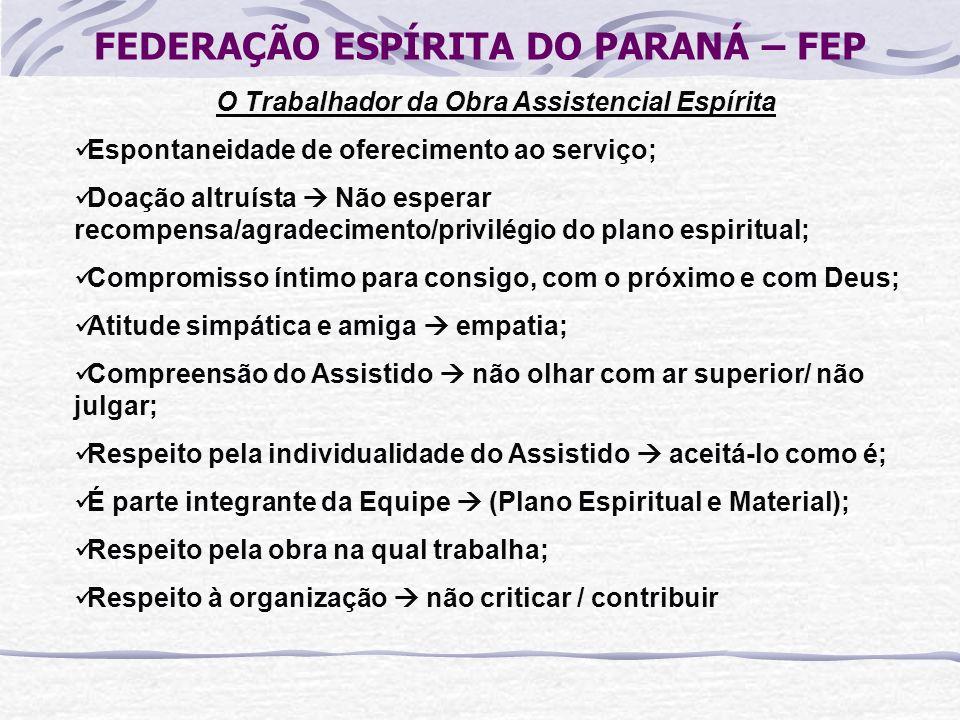 FEDERAÇÃO ESPÍRITA DO PARANÁ – FEP