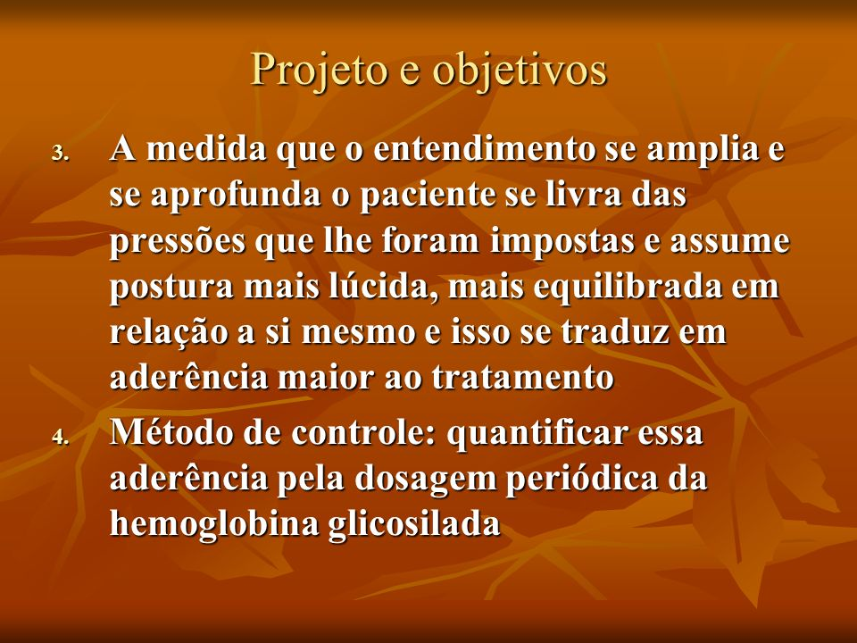Projeto e objetivos