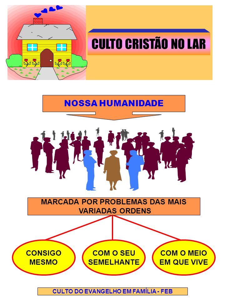MARCADA POR PROBLEMAS DAS MAIS CULTO DO EVANGELHO EM FAMÍLIA - FEB
