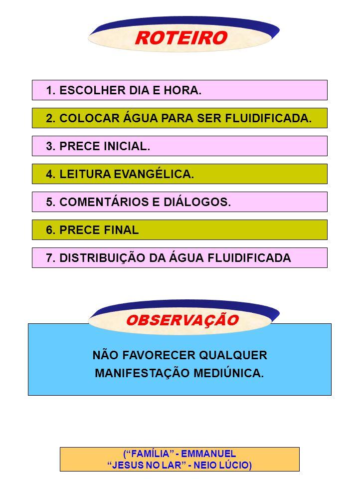 ROTEIRO OBSERVAÇÃO 1. ESCOLHER DIA E HORA.
