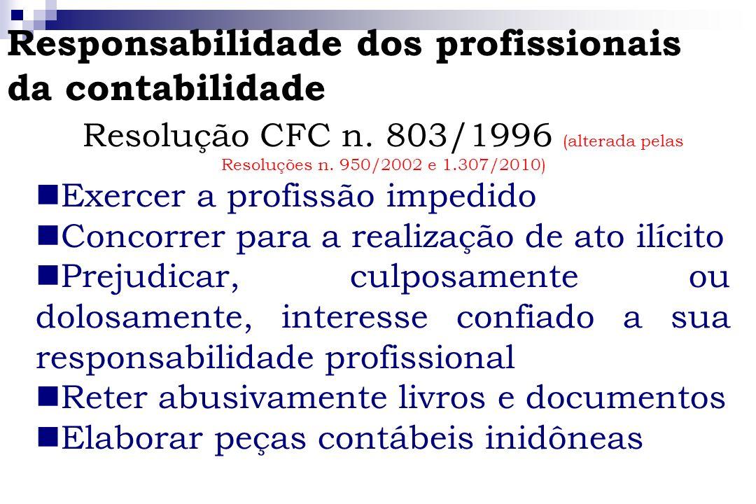 Responsabilidade dos profissionais da contabilidade