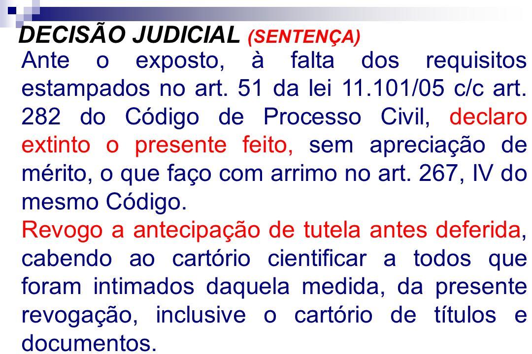 DECISÃO JUDICIAL (SENTENÇA)