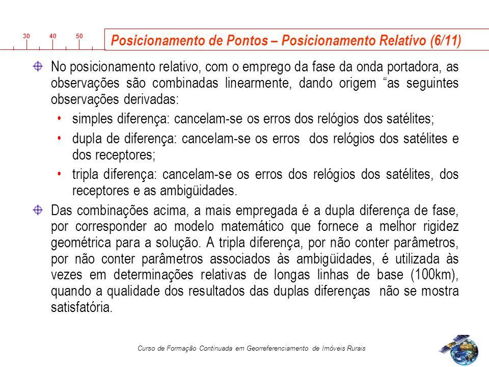 Posicionamento de Pontos – Posicionamento Relativo (6/11)
