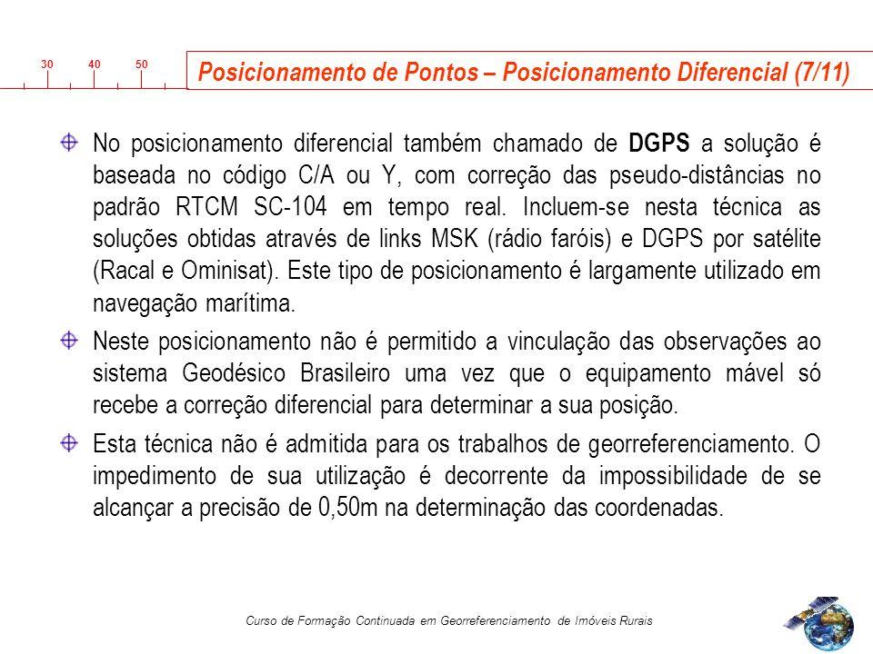 Posicionamento de Pontos – Posicionamento Diferencial (7/11)