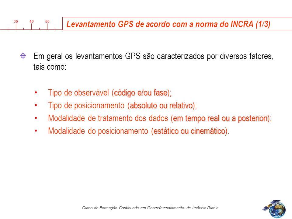 Levantamento GPS de acordo com a norma do INCRA (1/3)