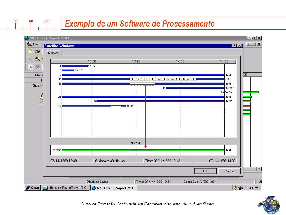 Exemplo de um Software de Processamento