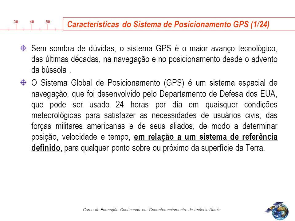 Características do Sistema de Posicionamento GPS (1/24)