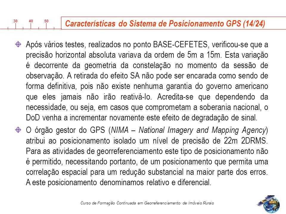 Características do Sistema de Posicionamento GPS (14/24)