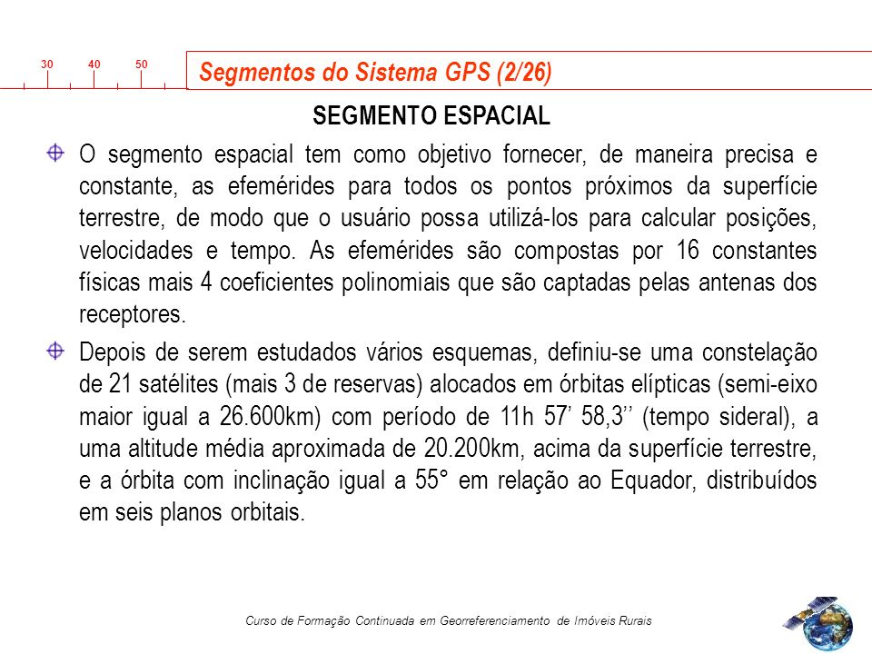 Segmentos do Sistema GPS (2/26)