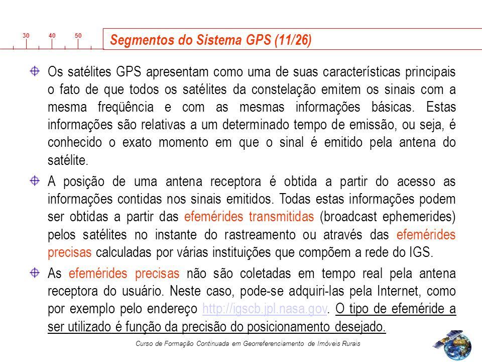 Segmentos do Sistema GPS (11/26)
