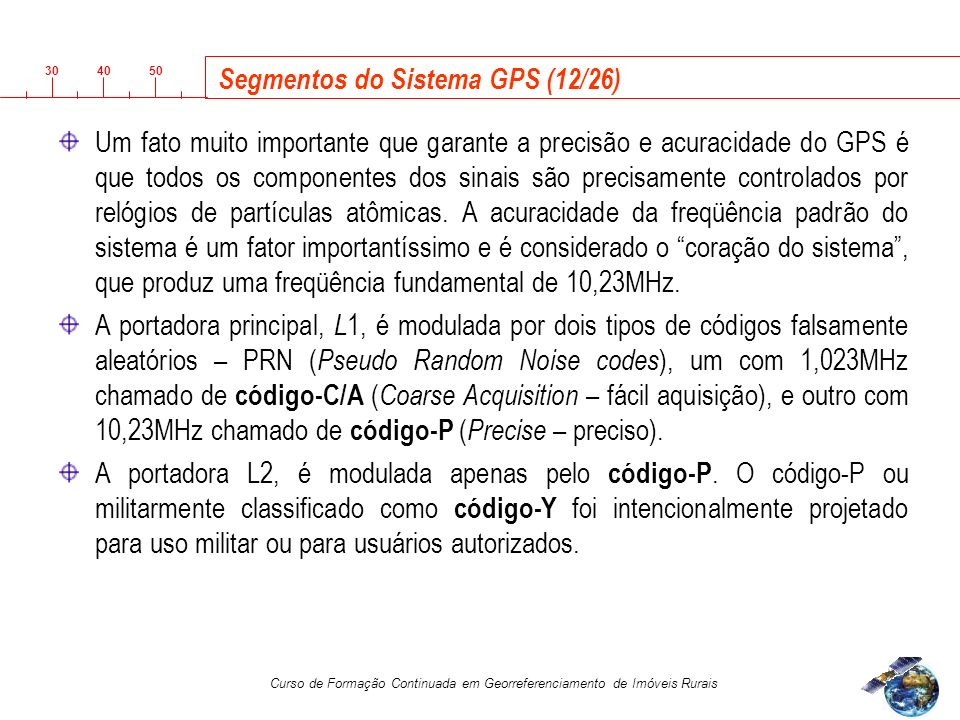 Segmentos do Sistema GPS (12/26)