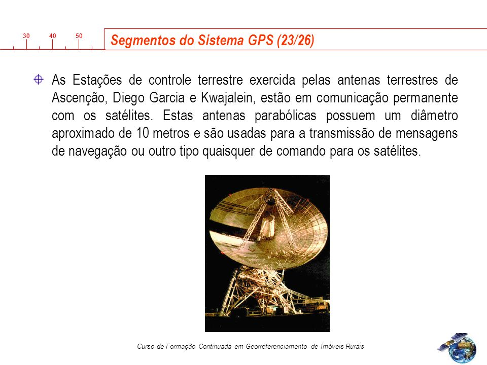 Segmentos do Sistema GPS (23/26)
