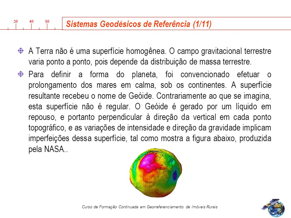 Sistemas Geodésicos de Referência (1/11)