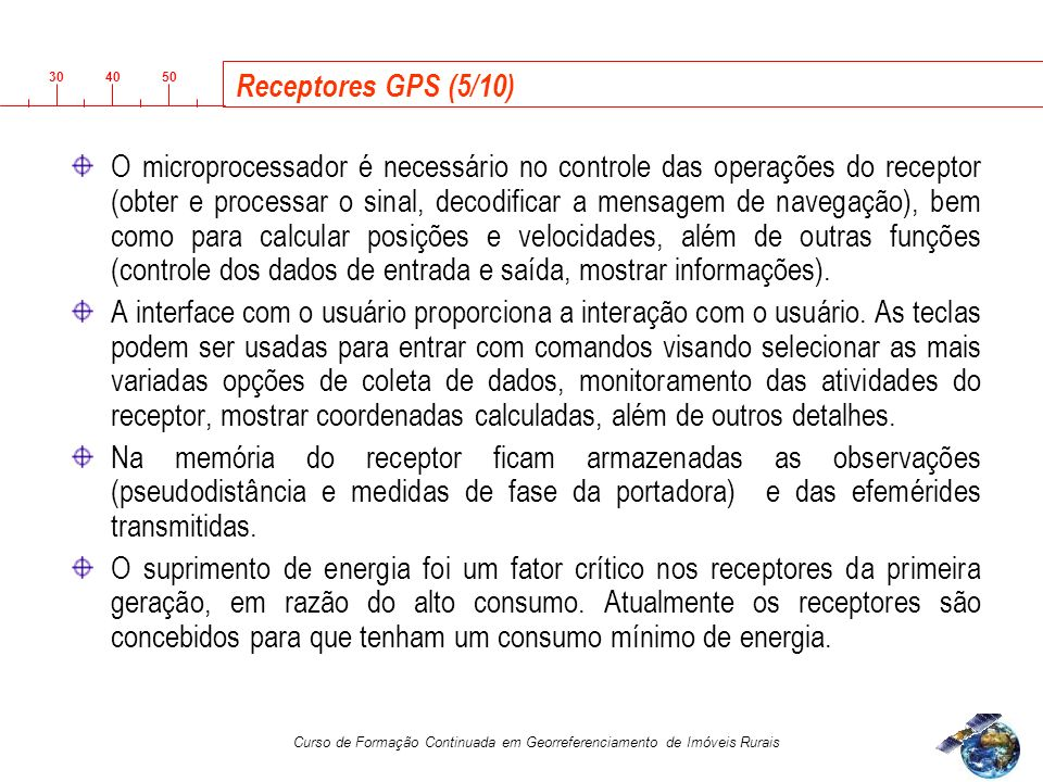 Receptores GPS (5/10)