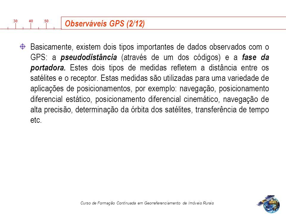 Observáveis GPS (2/12)