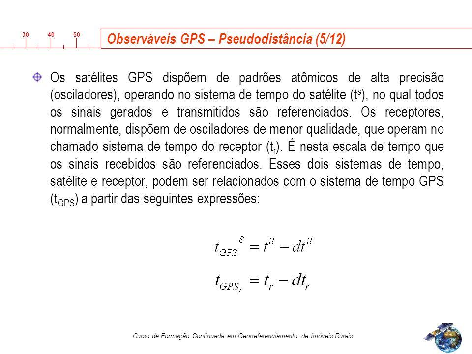 Observáveis GPS – Pseudodistância (5/12)