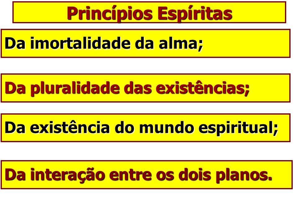 Princípios Espíritas Da imortalidade da alma;