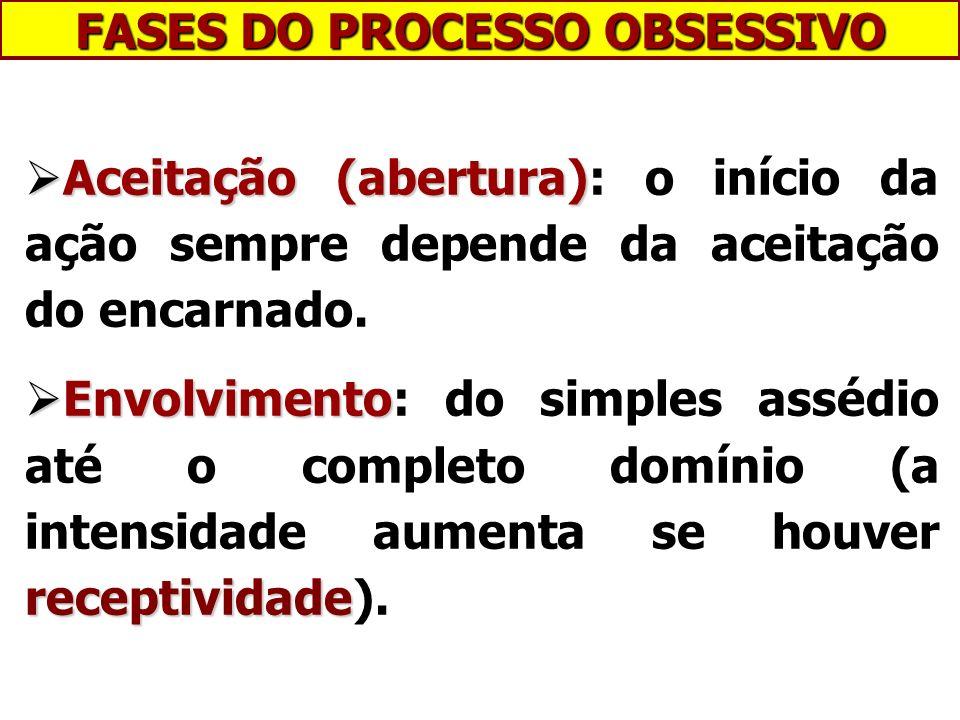 FASES DO PROCESSO OBSESSIVO