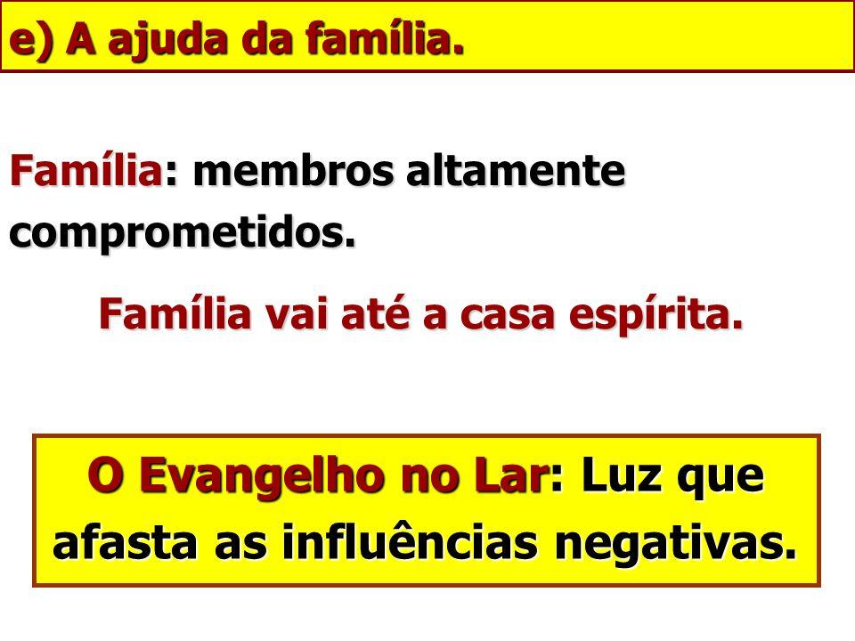 O Evangelho no Lar: Luz que afasta as influências negativas.
