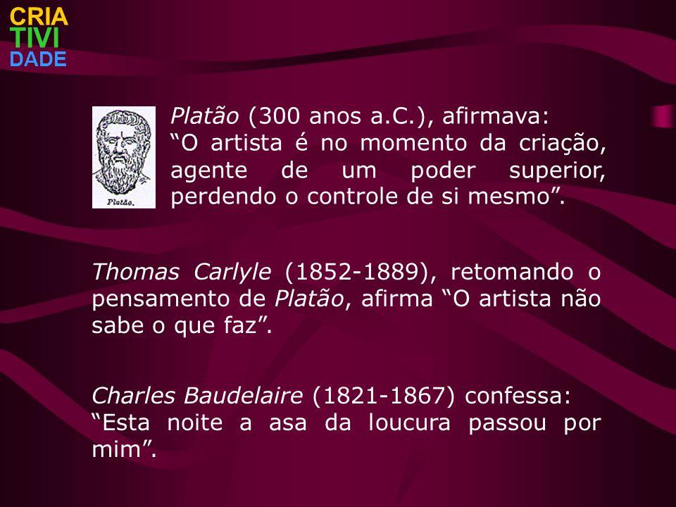 TIVI CRIA Platão (300 anos a.C.), afirmava: