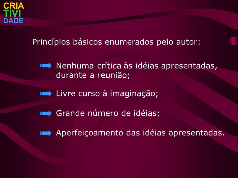 TIVI CRIA Princípios básicos enumerados pelo autor: