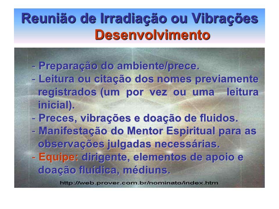 Reunião de Irradiação ou Vibrações Desenvolvimento