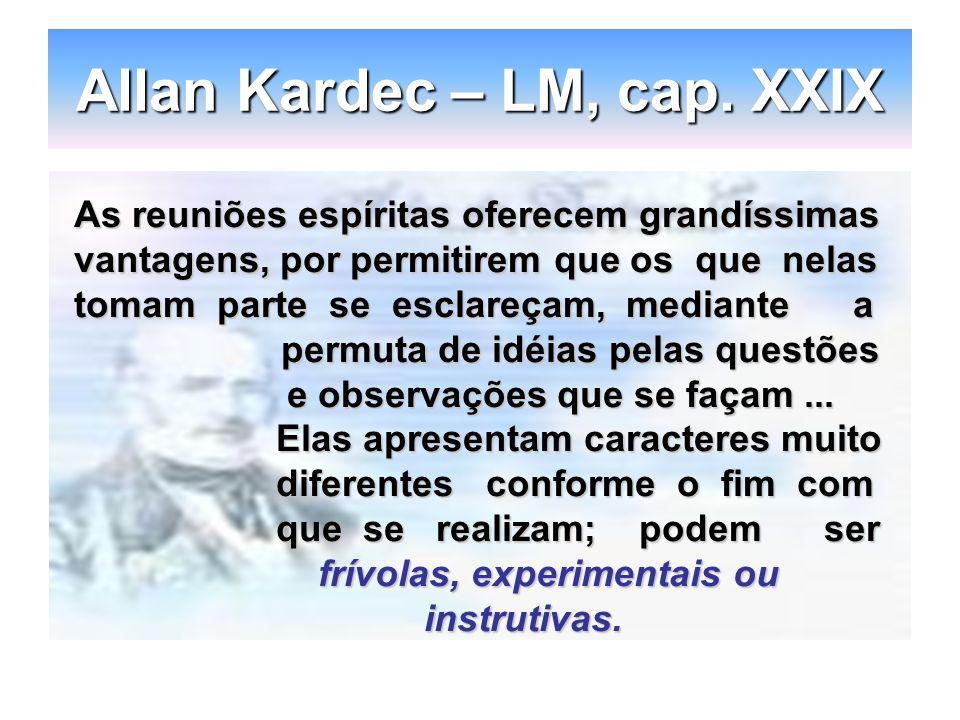 Allan Kardec – LM, cap. XXIX