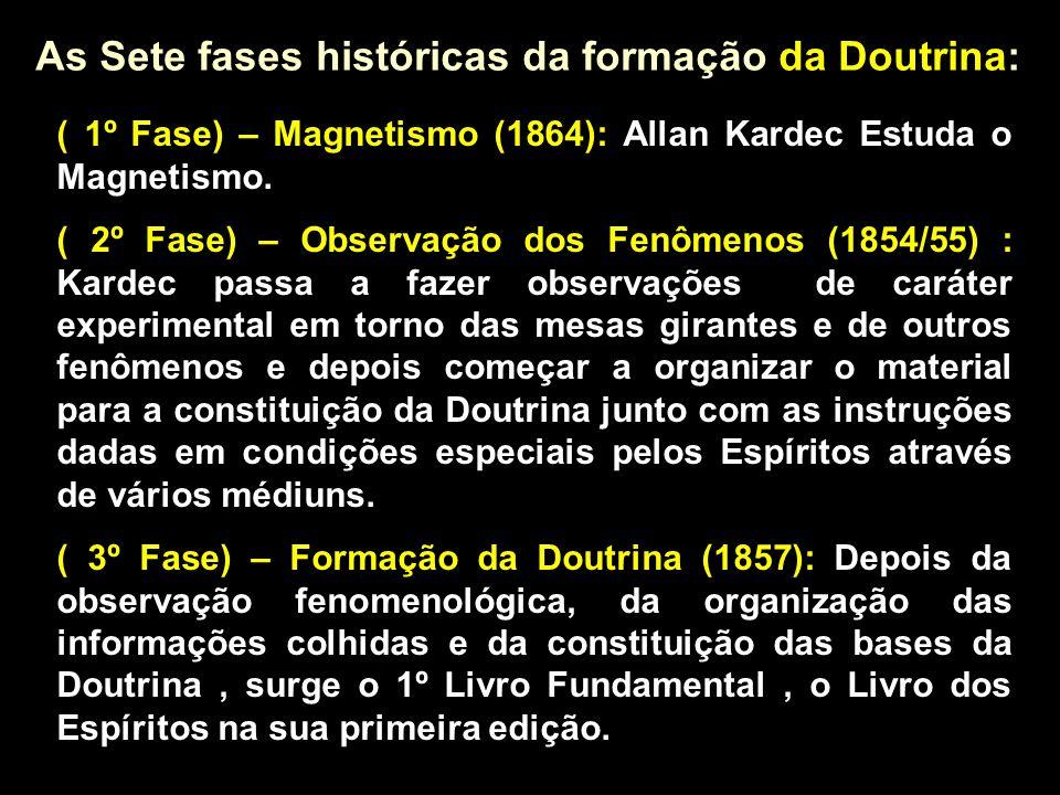 As Sete fases históricas da formação da Doutrina:
