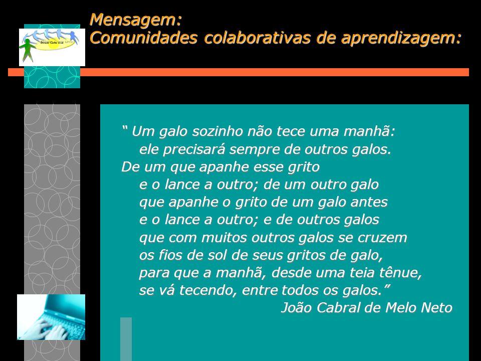 Mensagem: Comunidades colaborativas de aprendizagem: