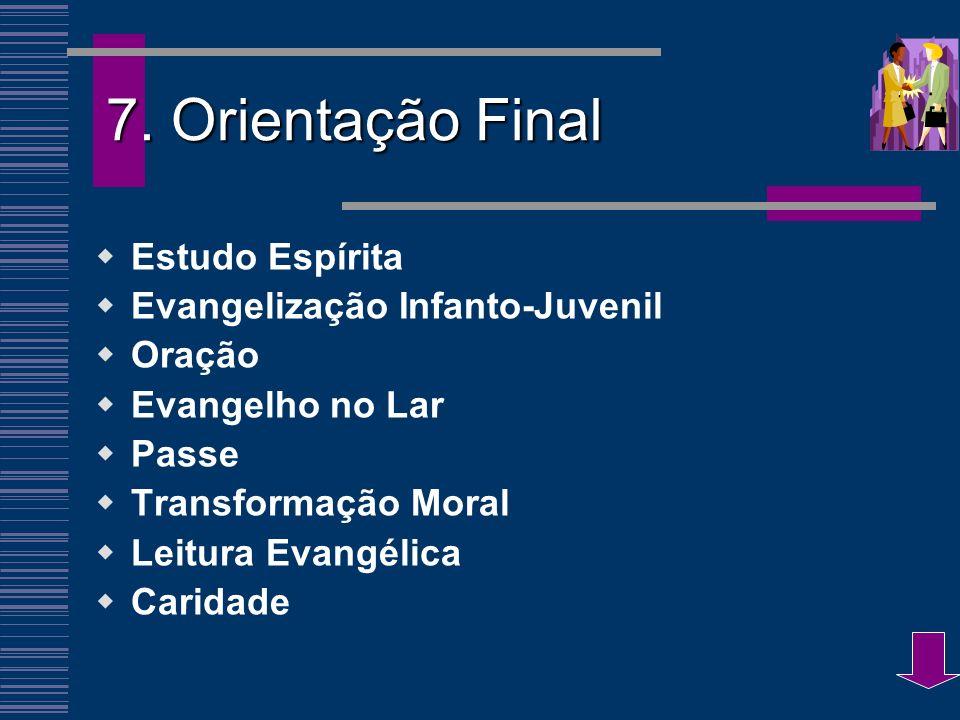 7. Orientação Final Estudo Espírita Evangelização Infanto-Juvenil