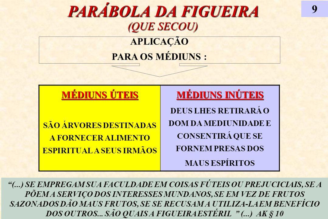 SÃO ÁRVORES DESTINADAS A FORNECER ALIMENTO ESPIRITUAL A SEUS IRMÃOS