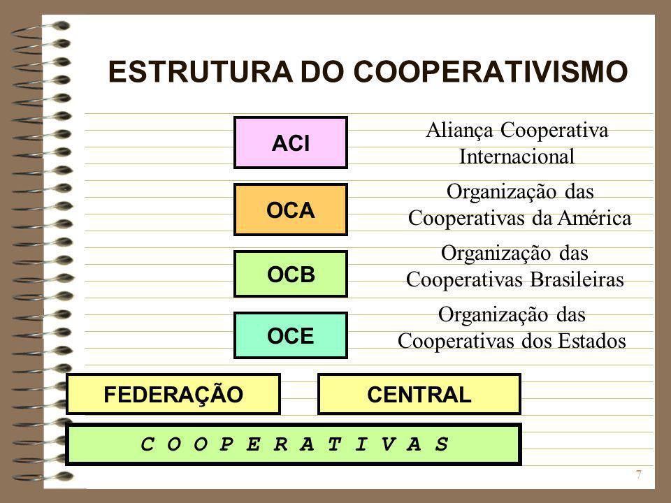 ESTRUTURA DO COOPERATIVISMO