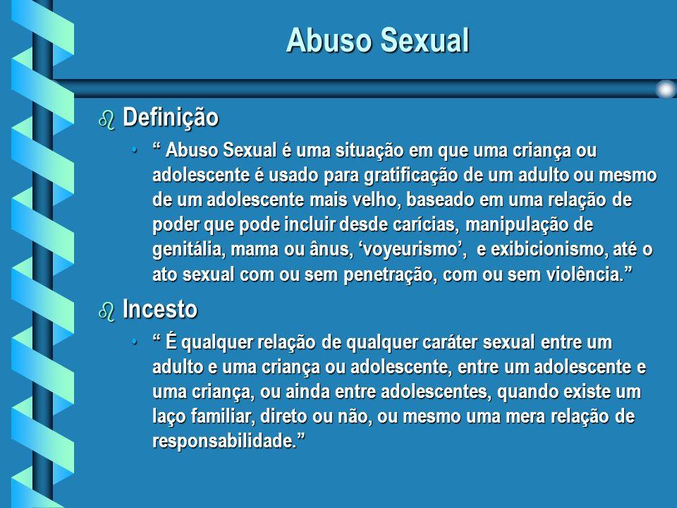 Abuso Sexual Definição Incesto