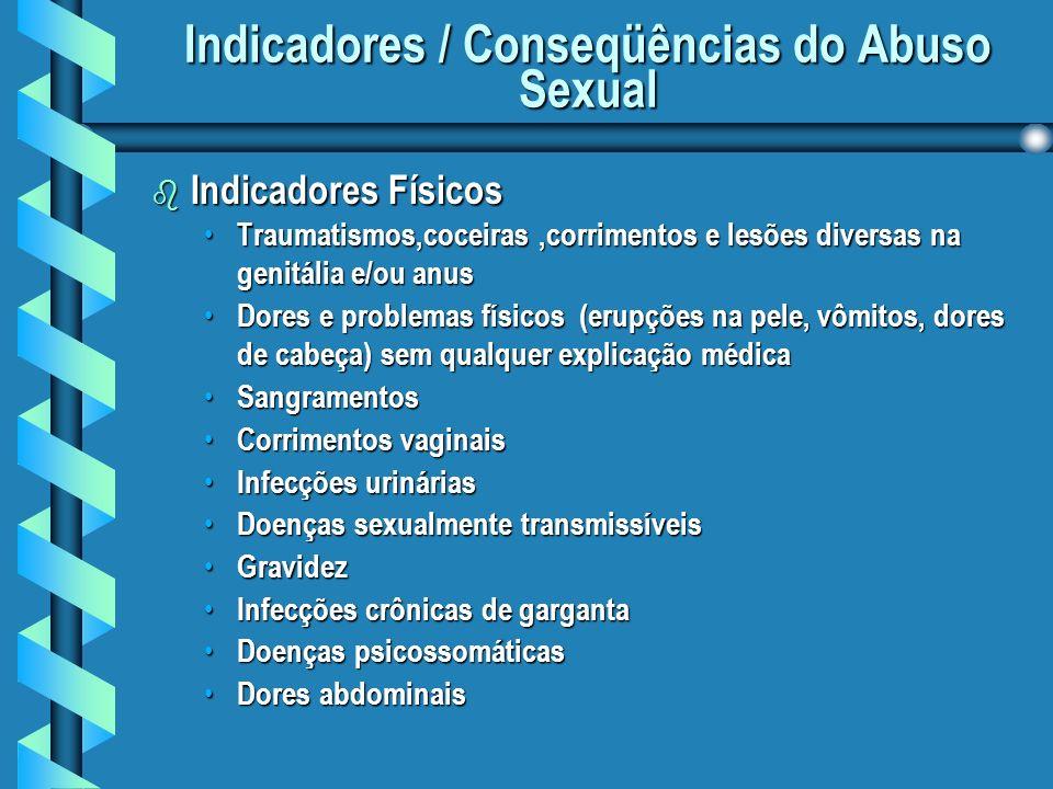 Indicadores / Conseqüências do Abuso Sexual