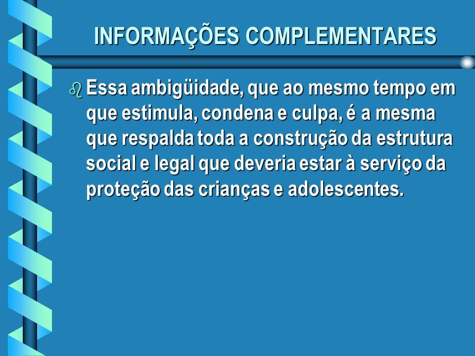 INFORMAÇÕES COMPLEMENTARES