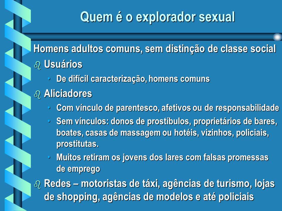 Quem é o explorador sexual