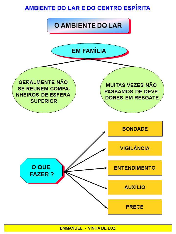 AMBIENTE DO LAR E DO CENTRO ESPÍRITA
