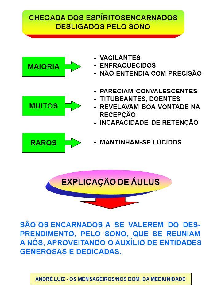 EXPLICAÇÃO DE ÁULUS CHEGADA DOS ESPÍRITOSENCARNADOS