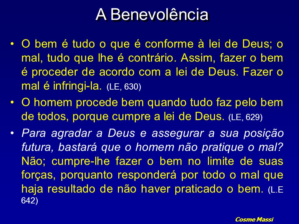 A Benevolência