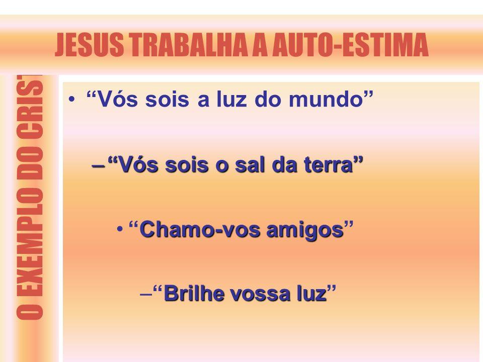 JESUS TRABALHA A AUTO-ESTIMA