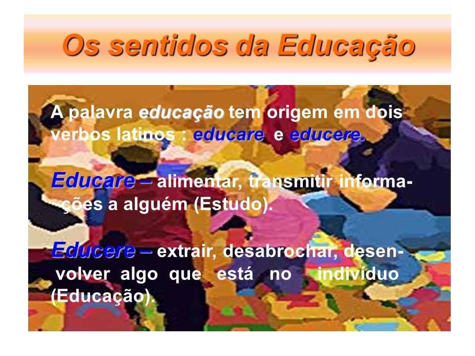 Os sentidos da Educação