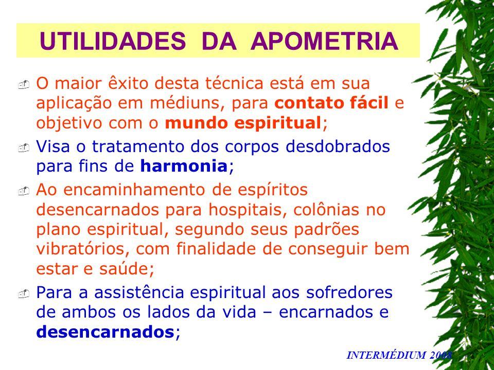 UTILIDADES DA APOMETRIA