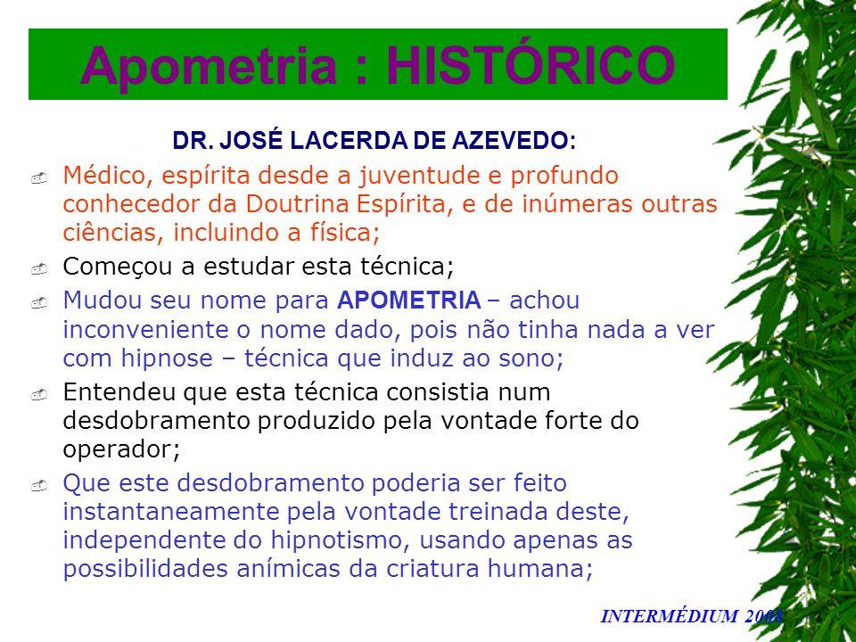 DR. JOSÉ LACERDA DE AZEVEDO: