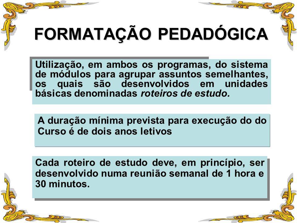 FORMATAÇÃO PEDADÓGICA