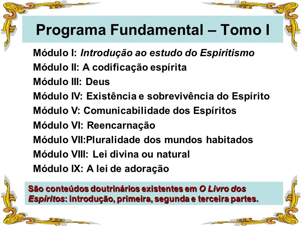 Programa Fundamental – Tomo I