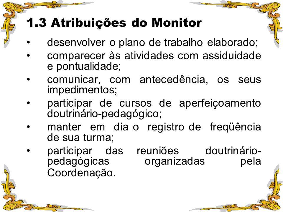 1.3 Atribuições do Monitor