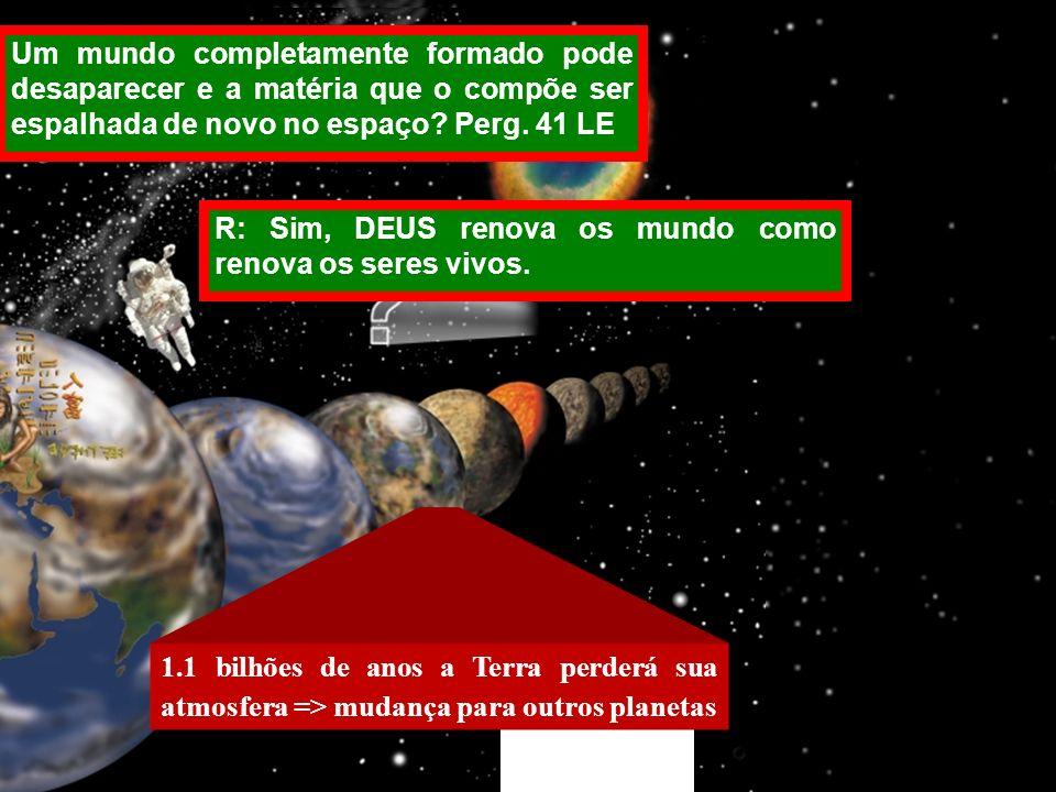 Um mundo completamente formado pode desaparecer e a matéria que o compõe ser espalhada de novo no espaço Perg. 41 LE