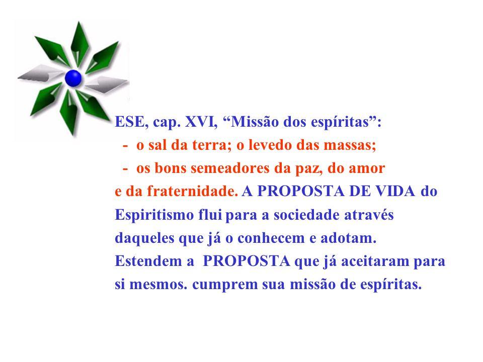 ESE, cap. XVI, Missão dos espíritas :